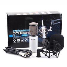 Professional Condenser Mic Microphone w Shock Mount F Studio Recordin Sound