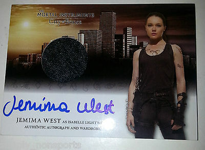 MORTAL INSTRUMENTS CITY OF BONES auto/AUTOGRAPH WARDROBE/COSTUME JEMIMA WEST