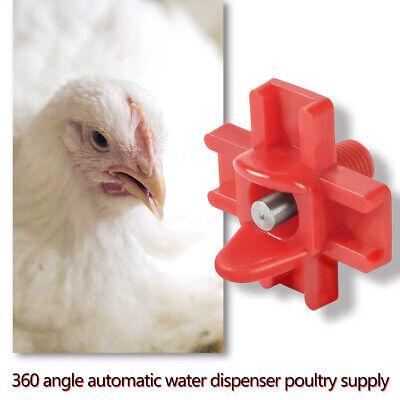 10Pcs Poultry Chicken Nipple Waterer Automatic Water Drinker Bird Feeder Cups
