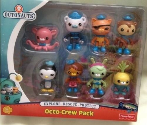 8 Fisher Price Octonauts Tweak Inkling Tunip Dashi Crew pack set Figures Pack