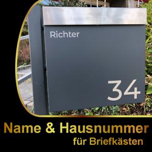 Details Zu Briefkasten Hausnummer Name Aufkleber Farbauswahl Wunschtext Schild