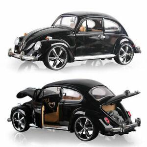 Vintage-VW-Beetle-superior-coche-modelo-escala-1967-1-18-Diecast-Vehiculo-Regalo-Negro