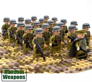 21x-WW2-Army-US-Soldiers-Mini-Figures-LEGO-Compatible