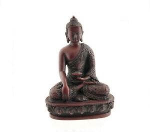 Soprammobile Tibetano Da Budda Dhyani Akshobya IN Resina 13.5cm 7663