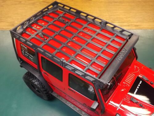 RCDM Roof Rack For The Axial 2017 Jeep Wrangler Unlimited CRC RTR SCX10 II