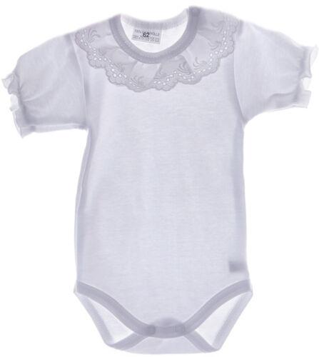 Body Baby Spitzen Kragen Taufe Weiß festlich 50 56 62 68 74 80 86 92 98 Sommer 1