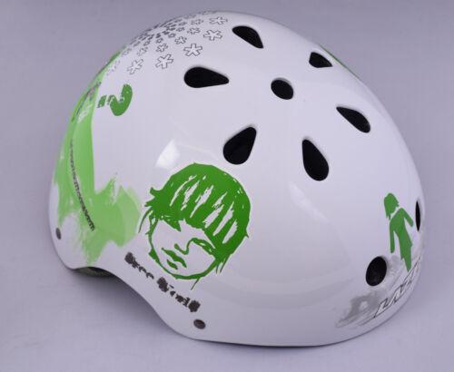 LAZER trashy Skate BMX Adulte Hommes Femmes moto Crash casque 58-62 cm Vert//Blanc