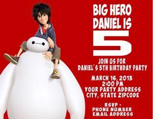 Image Is Loading Big Hero 6 Superhero Birthday Party Invitations Personalized