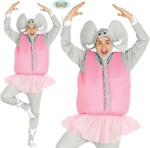 Mens Ballerina Elephant Fancy Dress Costume Stag Night Animal Ballet Outfit fg