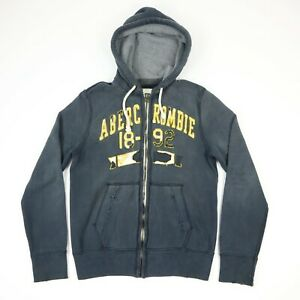 Sun-Faded-Distressed-Abercrombie-amp-Fitch-Heavyweight-Sweatshirt-Hoodie-Jacket-S
