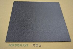 "ABS PLASTIC SHEET BLACK 1/4"" x 72"" x 24"""
