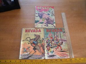 Nevada western pulp comic 1963 comic lot French Africa published