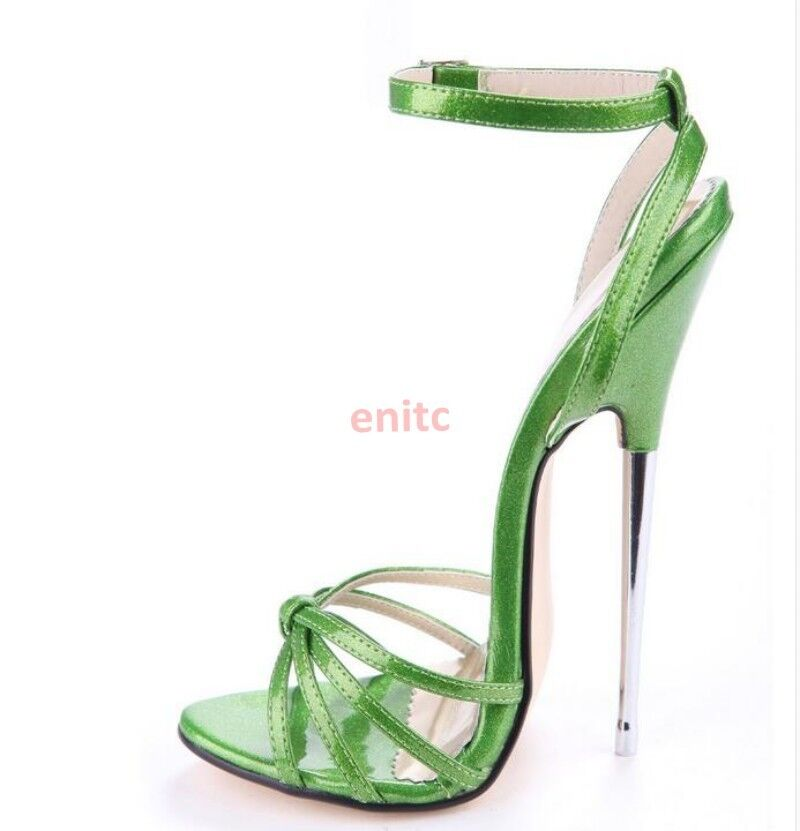 2019 Sexy Metal Stiletto Heels Ankle Strappy Roman Womens Sandals shoes US Size