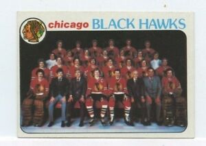 CHICAGO-BLACK-HAWKS-1978-79-TOPPS-HOCKEY-TEAM-CHECKLIST-195-UNMARKED