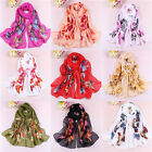 Butterfly Girls Women Long Soft Wrap Lady Shawl Silk Chiffon Scarf Scarves W061a