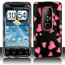 Raining Hearts Hard Case Phone Cover Sprint HTC EVO 3D