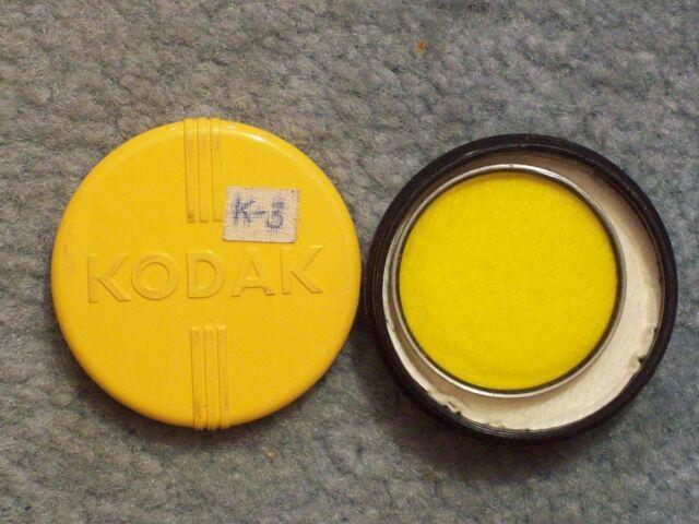 """1946 circa KODAK SERIES VI WRATTEN FILTER K3 (pale yellow)  Stickers """"K-3"""" &"""