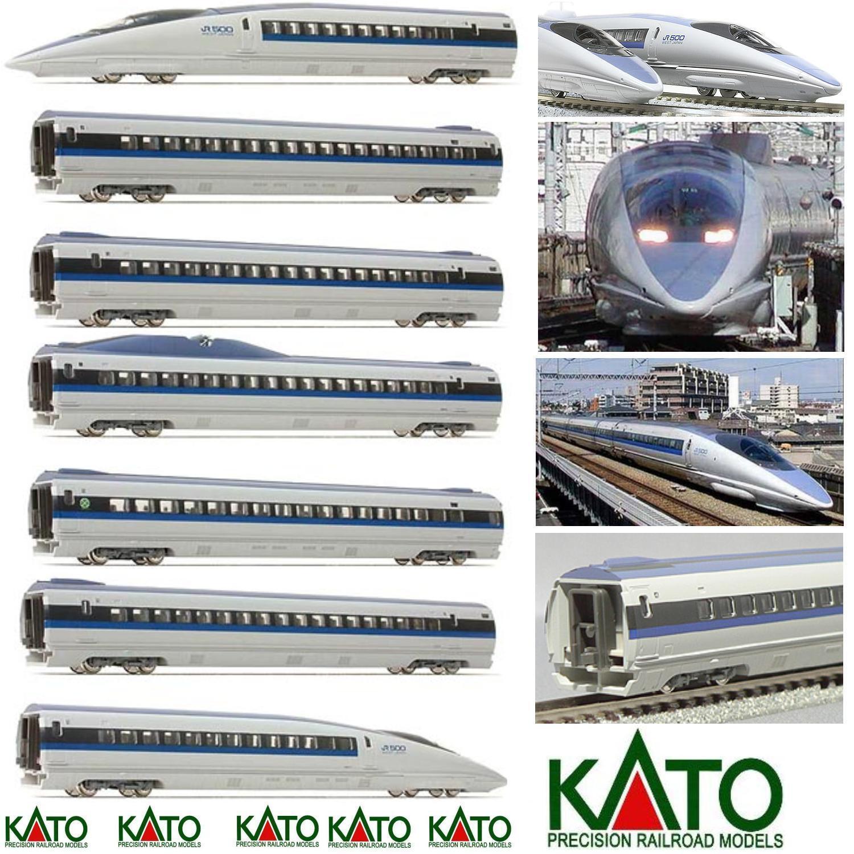 KATO 10-12916.9oz' ELECTRIC TRAIN+FAST a MONDO ICE 7 CAR JR500 NOZOMI BOX