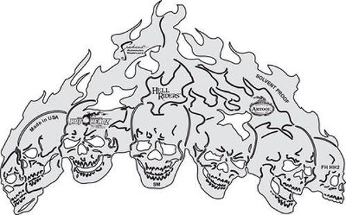 Iwata-Medea Hot Headz Mike Lavallee Hell Riders Freehand Artool Airbrush Stencil