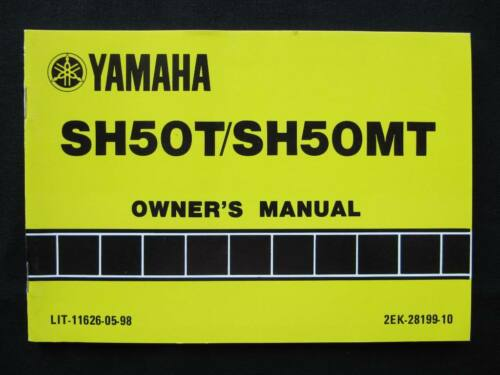 Yamaha 1987 SH50 SH 50 Razz New Original Owners Manual yam178
