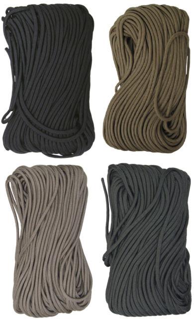 Tac Shield 550 Cord Mil-Spec+ --50ft or 100ft-Tan-Coyote Brown-Olive Drab-Black
