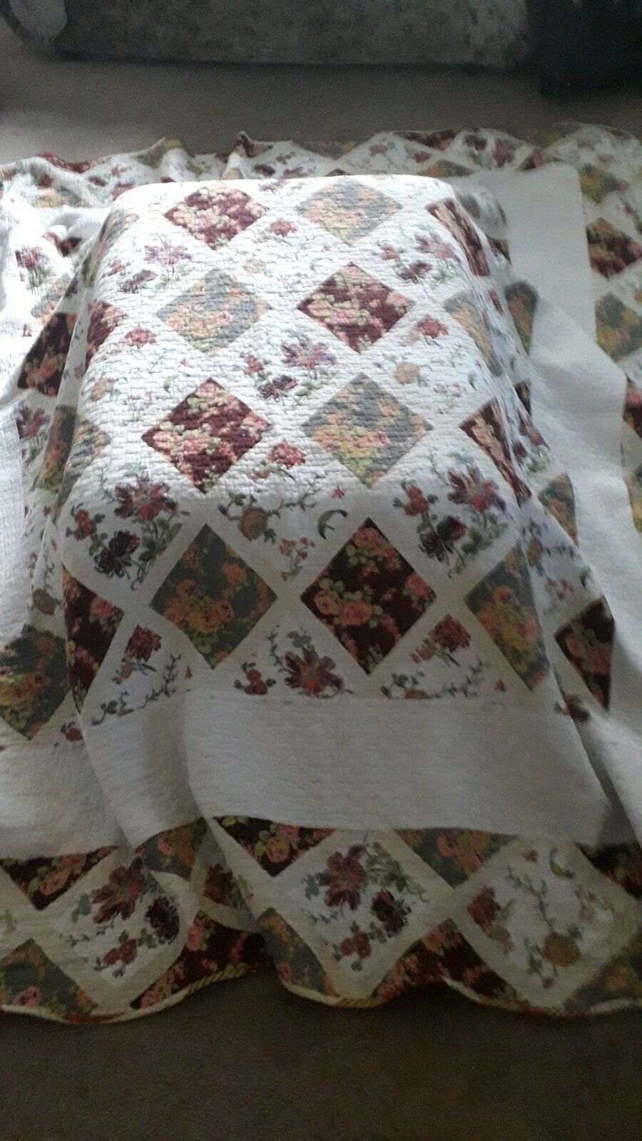 KingGröße Cotton Double Sided Bed Spread Throw