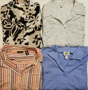 Lot-of-4-Tops-Blouses-Button-Ups-Shirts-Women-039-s-Size-24