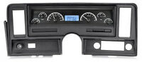 Dakota Digital 69-76 Chevy Nova Dash Analog Gauges Black Blue Vhx-69c-nov-k-b