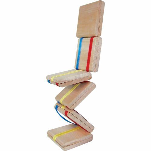 En bois Jacob/'s Ladder six sections Traditionnel Rétro Jouet Cadeau Nouveauté Enfants