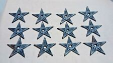 """5 LG Cast Iron Stars Architectural Stress Washer Texas Lone Star Rustic Ranch 6/"""""""