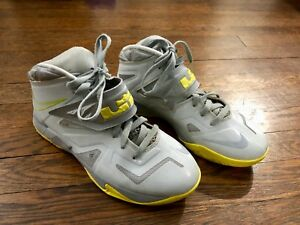 the latest 47647 9bfdd Details about Youth Nike Zoom Soldier VII - Grey/Yellow - 599264-001 Size  7Y - LeBron 7