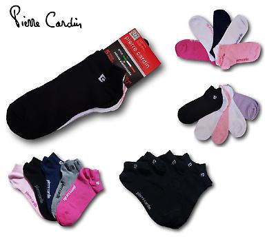 Ragionevole Pierre Cardin 5 Paia Fantasmini Basso Donna Cotone Elasticizzato Sneaker, Pc0372