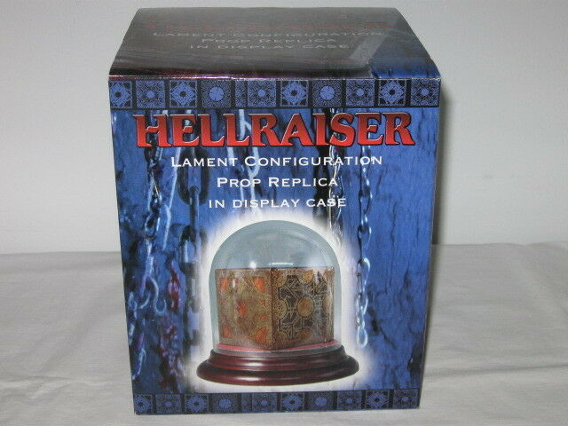 HELLRAISER LAMENT CONFIGURATION PUZZLE BOX PROP REPLICA IN DISPLAY CASE AS-IS