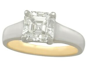 2-04-ct-Diamond-18Carat-Yellow-Gold-Platinum-Solitaire-Ring-Contemporary-2013