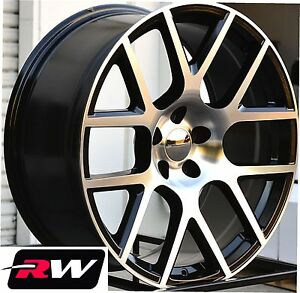 dodge charger wheels 20 inch challenger scat pack black machined replica rims ebay. Black Bedroom Furniture Sets. Home Design Ideas