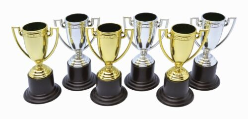Pack Of 6 Fancy Dress Party Best Costume Trophy Cup Sports Award Prize Party