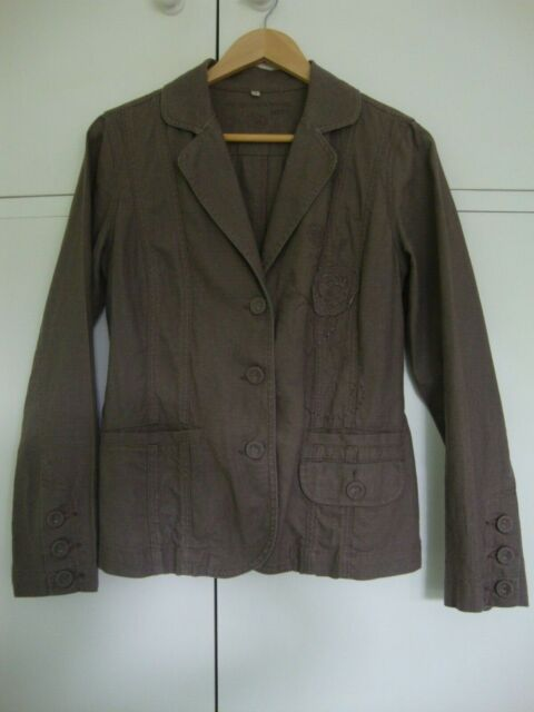 Women's/Ladies John Rocha Rosy Brown Linen Jacket - Size 10