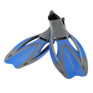 U-S-Divers-Proflex-II-Size-Medium-Diving-amp-Swimming-Fins-w-Bag-Electric-Blue