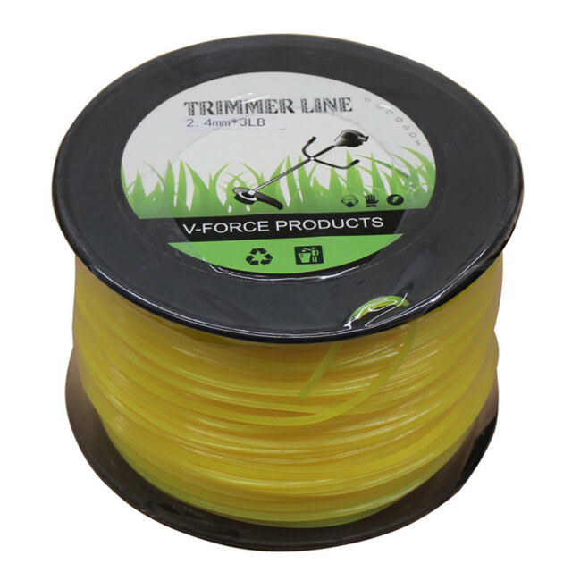 2.4mm 250M Square Brush Cuter Cord Trimmer Line 3LB Whipper Snipper Mow WDMATE
