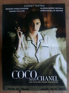 Cartel-Coco-Delantero-Chanel-Anne-Fuente-Audrey-Tautou-Marie-Gillain-40x60cm