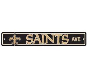 New-Orleans-Saints-Ave-Street-Sign-4-034-x24-034-NFL-Football-Team-Logo-Avenue-Man-Cave