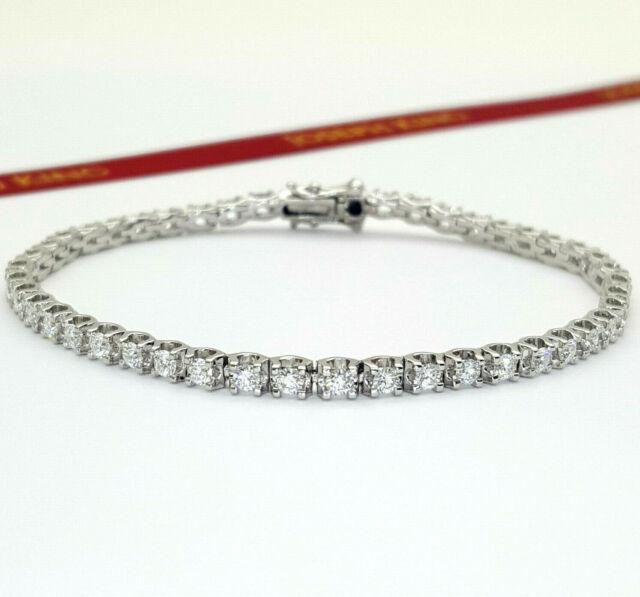 Ladies 18ct (750,18K) White Gold Natural Diamond (2.00ct) Tennis Bracelet