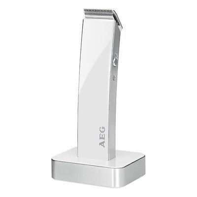 AEG HSM/R 5638 - Cortapelos para cabello y barba, batería recargable, blanco