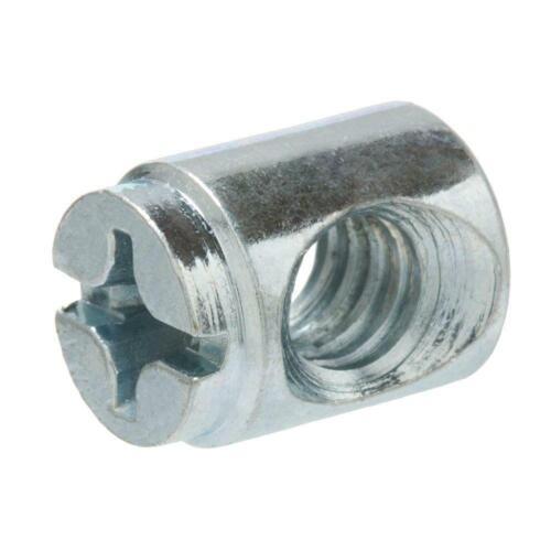 Everbilt 1//4 In.-20 Zinc Plated Cross Dowel Nut 4-Pack