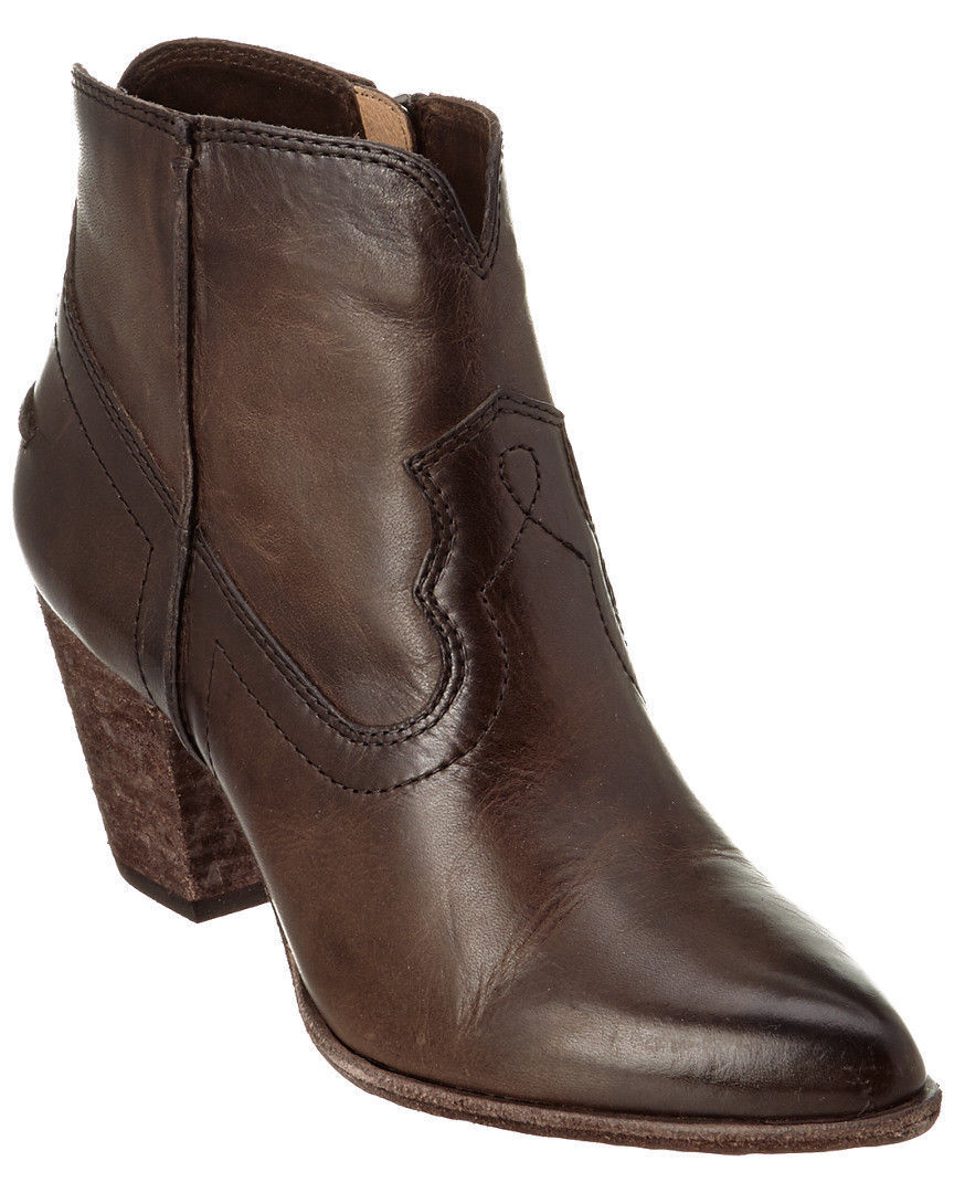 Frye Renee Womens Brown Slate Leather Zip Short Ankle Seam Chukka Boots Bootie
