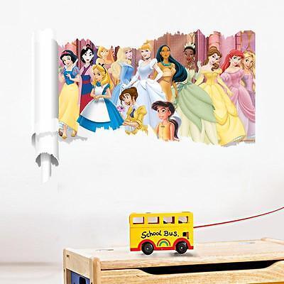 Disney Princess Girls Nursery Wall Stickers Art Mural Kids Room Decor Removable