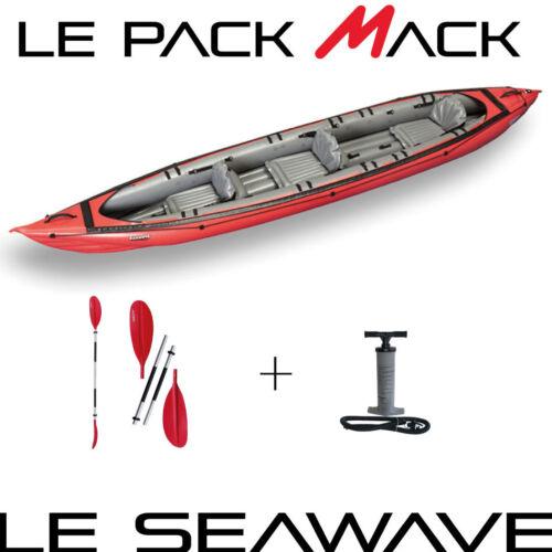 Packung Meereskajak Meer aufblasbar SEAWAVE GUMOTEX 2 PLACES
