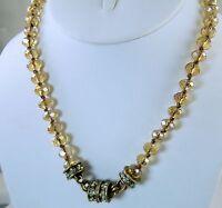 Kirks Folly Timeless Crystal Interchangeable Magnetic Necklace Brasstone / Topaz