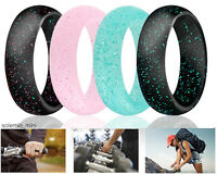 Ring Wedding Women Band Silicone Sport Gym Engagement Safe Travel Fashion Gift 4