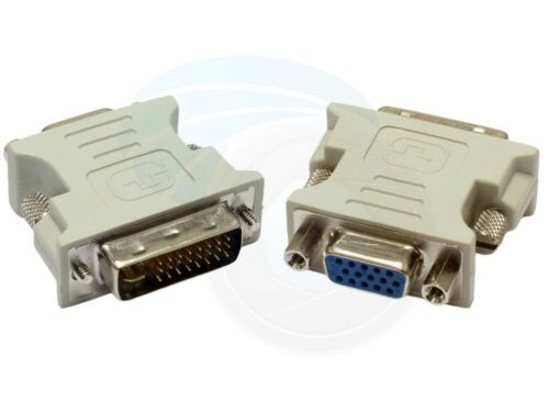 DVI-I 29 Pin Male to VGA Female Converter Adapter Desktop Video Card